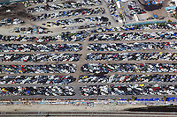 aerial photograph of an auto junkyard Los Angeles, California