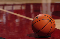 1 January 2006: A basketball during the Stanford Cardinal's 91-68 over the UCLA Bruins at Maples Pavilion in Stanford, CA.