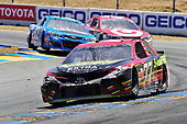 Monster Energy NASCAR Cup Series<br /> Toyota/Save Mart 350<br /> Sonoma Raceway, Sonoma, CA USA<br /> Sunday 25 June 2017<br /> Erik Jones, Furniture Row Racing, 5-hour ENERGY Extra Strength Toyota Camry, Kyle Larson, Chip Ganassi Racing, Target Chevrolet SS, Cole Whitt, TriStar Motorsports, RTIC Coolers Chevrolet SS<br /> World Copyright: John K Harrelson<br /> LAT Images