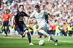Real Madrid's James Rodriguez and Sociedad Deportiva Eibar's Izet Hajrovic during La Liga match. April 09, 2016. (ALTERPHOTOS/Borja B.Hojas)