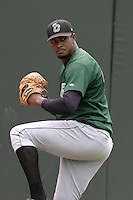 Clinton Lumberkings Jose Marte during practice before a Midwest League game at Fifth Third Field on July 18, 2006 in Dayton, Ohio.  (Mike Janes/Four Seam Images)