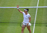 6th July 2021, Wimbledon, SW London, England; 2021 Wimbledon Championships  day 8;  Ons Jabeur , Tunisia
