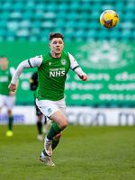 21st April 2021; Easter Road, Edinburgh, Scotland; Scottish Premiership Football, Hibernian versus Livingston; Kevin Nisbet of Hibernian