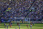 Leicester City 1 Queens Park Rangers 1, 15/09/2007. Walkers Stadium, Championship. Leicester City (blue) taking on Queen's Park Rangers in a Coca-Cola Championship match at the Walkers Stadium, Leicester. It was Gary Megson's first game in charge of the home team since his appointment two days earlier. The match ended one-all, QPR equalising in the last minute through Mikele Leigertwood after the Foxes had score through an Iain Hume penalty. Photo shows Leicester on the attack. Photo by Colin McPherson.