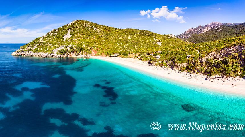 The beach Thapsa in Evia island, Greece