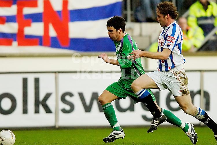 heerenveen - fc groningen eredivisie seizoen 2007-2008 09-12- 2007 koen vd laak met breuer.fotograaf Jan Kanning *** Local Caption ***