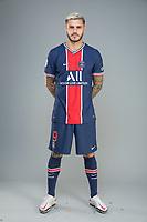 14th October 2020, Paris, France; Official League 1 player portrait for Paris Saint Germain;  ICARDI Mauro