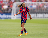 EAST HARTFORD, CT - JULY 5: Tobin Heath #7 of the USWNT looks to the ball during a game between Mexico and USWNT at Rentschler Field on July 5, 2021 in East Hartford, Connecticut.