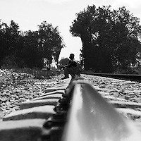 Inmigrants trying to reach the United States, travel all along Mexico by train and once in the border they try to cross be many means into the north.