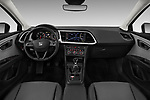 Stock photo of straight dashboard view of a 2018 Seat Leon ST Style 5 Door Wagon