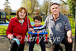 Enjoying the playground in the Tralee town park on Tuesday, l to r: Catherine, Tom and Donie McCannon.