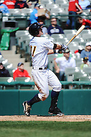 Trenton Thunder outfielder Tyler Austin (21) during game against the Richmond Flying Squirrels at ARM & HAMMER Park on April 14 2013 in Trenton, NJ.  Trenton defeated Richmond 15-1.  (Tomasso DeRosa/Four Seam Images)