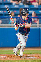 Jason Kipnis #8 of the Kinston Indians follows through on his swing against the Salem Red Sox at Lewis-Gale Field May 1, 2010, in Winston-Salem, North Carolina.  Photo by Brian Westerholt / Four Seam Images