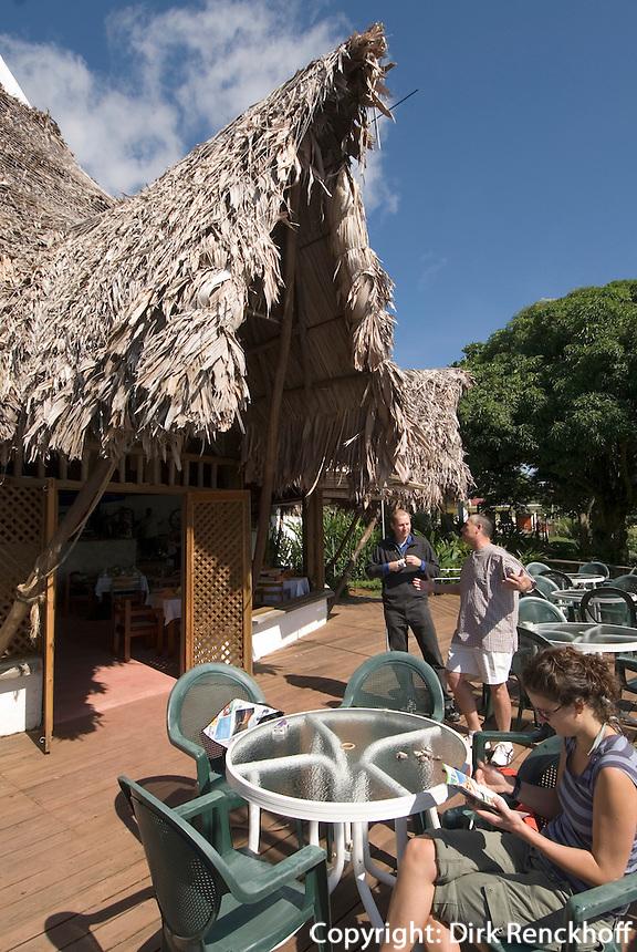 Guatemala, Hotel Villa Caribe in Livingston am  Golf von Honduras