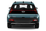 Straight rear view of 2021 Hyundai Bayon Techno 5 Door SUV Rear View  stock images