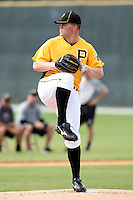 Pittsburgh Pirates pitcher Colton Cain #76 during an Instructional League game against the Philadelphia Phillies at Pirate City on October 11, 2011 in Bradenton, Florida.  (Mike Janes/Four Seam Images)