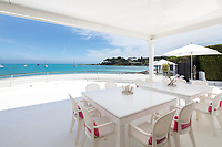 BNPS.co.uk (01202 558833)<br /> Pic: CapVillas/BNPS<br /> <br /> Outdoor dining area does of course have stunning views<br />  <br /> A glamorous villa that has hosted a string of celebrities including Winston Churchill, Pablo Picasso, the Duke of Windsor and Edith Piaf is on the market for £9m (10.5m euros).<br /> <br /> The exquisite Villa La Garoupe Beach sits on a natural sand beach and has its own private beach on one of the French Riviera's most exclusive spots.<br /> <br /> It was once a renowned beach club and the list of names connected to the property are endless. French singer Edith Piaf hosted her engagement party to Theo Sarapo there and it was also visited by former US President Harry Truman, writer Ernest Hemingway, Bond actor Sean Connery and movie star Marlene Dietrich.<br /> <br /> The property in Cap d'Antibes has four bedrooms suitable for six to eight people, three bathrooms and a living area overlooking the sea.
