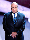 """In this file photo, Fred Thompson, star of the NBC Television series """"Law & Order"""" introduces a video  about United States President George W. Bush at the 2004 Republican Convention in Madison Square Garden in New York , New York on Thursday, September 2, 2004.  Thompson is a former United States Senator (Republican of Tennessee) and served the Senate Watergate Committee as a minority counsel.  He has also appeared in motion pictures such as """"The Hunt for Red October"""" with Sean Connery. Thompson's family announced he passed away on Sunday, November 1, 2015 at age 73 in Nashville, Tennessee after a recurrence of lymphoma.<br /> Credit: Ron Sachs / CNP<br /> (RESTRICTION: No New York Metro or other Newspapers within a 75 mile radius of New York City)"""