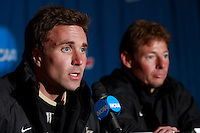 Wake Forest Demon Deacons assistant coach Jon Lowery during a press conference prior to the finals of the NCAA College Cup at SAS Stadium in Cary, NC on December 14, 2007.