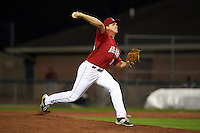 Auburn Doubledays pitcher Mick Van Vossen (36) delivers a pitch during a game against the Mahoning Valley Scrappers on September 4, 2015 at Falcon Park in Auburn, New York.  Auburn defeated Mahoning Valley 5-1.  (Mike Janes/Four Seam Images)