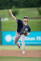 Asheville Tourists starting pitcher David Hill (34) in action against the Kannapolis Intimidators at Intimidators Stadium on May 28, 2016 in Kannapolis, North Carolina.  The Intimidators defeated the Tourists 5-4 in 10 innings.  (Brian Westerholt/Four Seam Images)