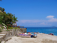 Strand bei Sant'Andrea, Elba, Region Toskana, Provinz Livorno, Italien, Europa<br /> beach of Sant'Andrea, Elba, Region Tuscany, Province Livorno, Italy, Europe
