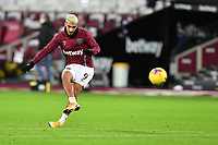 Said Benrahma of West Ham United warms up during West Ham United vs Aston Villa, Premier League Football at The London Stadium on 30th November 2020