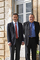 Xavier Perromat, winemaker, left and his brother Chateau de Cerons (Cérons) Sauternes Gironde Aquitaine France