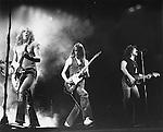 Status Quo 1976  Rick Parfitt, Francis Rossi, Alan Lancaster.© Chris Walter.