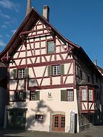 Haus zum Falken von 1788, Stein am Rhein, Kanton Schaffhausen, Schweiz<br /> House the falcon in Stein am Rhein, Canton Schaffhausen, Switzerland