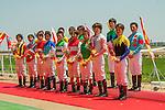 JUN 1,2014:Ceremony for jockeys before the Tokyo Yushun (Japanese Derby) at Tokyo in Tokyo, Japan. Kazushi Ishida/ESW/CSM