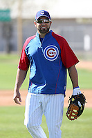Kevin Millar. Chicago Cubs spring training workouts at Fitch Park, Mesa, AZ - 03/01/2010.Photo by:  Bill Mitchell/Four Seam Images.