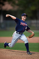 Minnesota Twins Tim Shibuya (16) during a minor league Spring Training intrasquad game on March 15, 2016 at CenturyLink Sports Complex in Fort Myers, Florida.  (Mike Janes/Four Seam Images)
