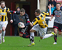 Pars' Ryan Wallace is fouled by East Fife's Kevin Smith.