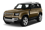 2021 Land Rover Defender First-Edition 5 Door SUV Angular Front automotive stock photos of front three quarter view