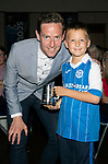 St Johnstone FC Player of the Year Awards 2017-18<br />The Muirton Sweeties Cult Hero is Steven MacLean presented by Fletcher Young (8)<br />Picture by Graeme Hart.<br />Copyright Perthshire Picture Agency<br />Tel: 01738 623350  Mobile: 07990 594431