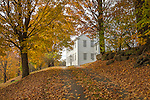 The Rockingham Meeting House in Rockingham, Vermont, USA