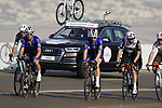 Riders on the final climb of Stage 3 of the 2021 UAE Tour running 166km from Al Ain to Jebel Hafeet, Abu Dhabi, UAE. 23rd February 2021.  <br /> Picture: Eoin Clarke | Cyclefile<br /> <br /> All photos usage must carry mandatory copyright credit (© Cyclefile | Eoin Clarke)
