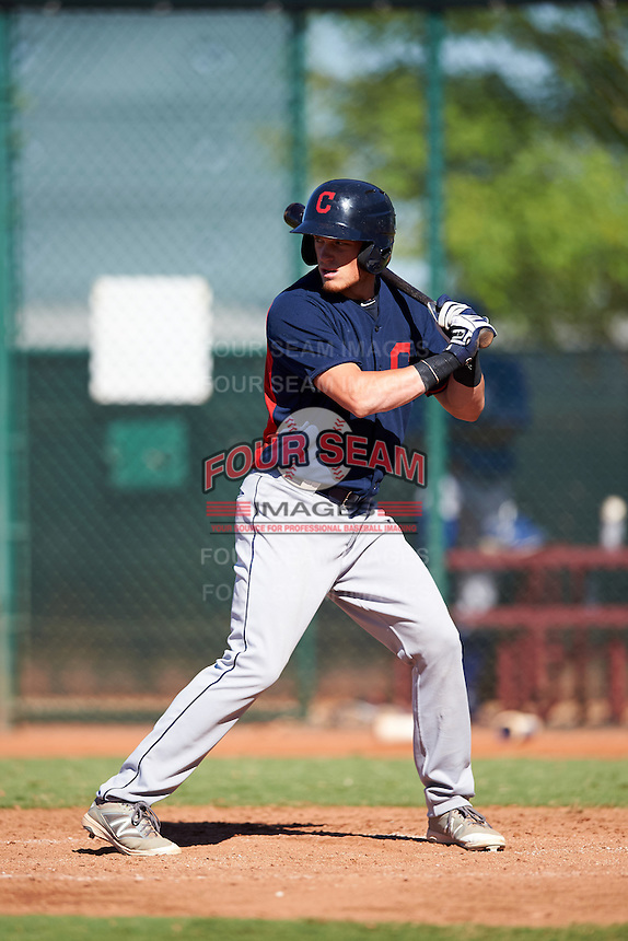 Cleveland Indians Connor Capel (20) during an Instructional League game against the Kansas City Royals on October 11, 2016 at the Cleveland Indians Player Development Complex in Goodyear, Arizona.  (Mike Janes/Four Seam Images)