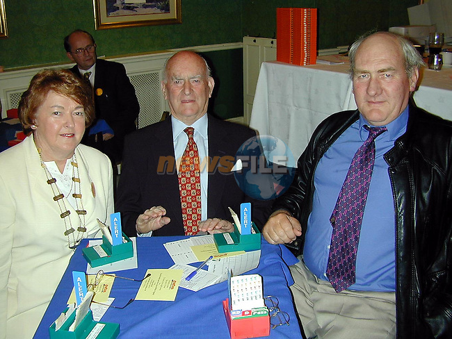 Sheila Grimes, Seamus Kelly and Noel Grimes at the bridge congress in the Westcourt Hotel..Picture Paul Mohan Newsfile