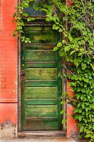 Urban textures - green door, Duquesne