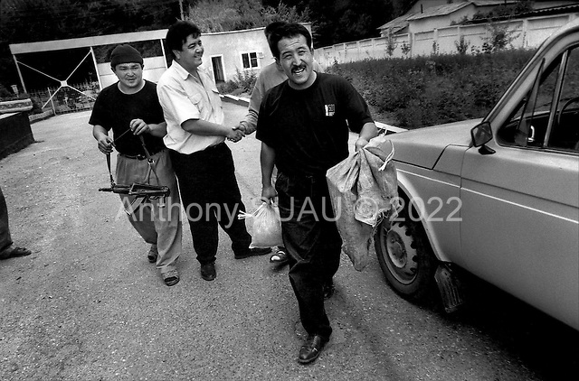 "Osh, Krygystan.1996.Kyrgyz police find 4 kilos of raw opium or ""hannka"" hidden in a truck moving up the old slik road from Tajikistan. The driver is arrested and the vehicale and the opium are confiscated."