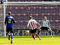 17th July 2021; Tynecastle Park, Edinburgh, Scotland;Pre Season Friendly Football, Heart of Midlothian versus Sunderland; Aiden McGeady of Sunderland FC shoots and scores the second goal for Sunderland