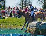 April 26, 2014: MANOIR DE CARNEVILLE, ridden by Sinead Halpin (USA), competes in the Cross County Test at the Rolex Kentucky 3-Day Event at the Kentucky Horse Park in Lexington, KY Scott Serio/ESW/CSM