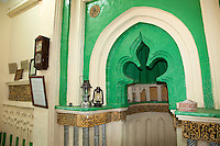 Kizimkazi, Zanzibar, Tanzania.  Mihrab of the Mosque, with inscription dated to 1107A.D.  The Kufic inscription attributes the founding of the mosque to Persian settlers.  This is the oldest dated Arabic inscription on the East African coast.