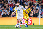 Daniel Carvajal Ramos of Real Madrid in action during the UEFA Champions League 2017-18 quarter-finals (2nd leg) match between Real Madrid and Juventus at Estadio Santiago Bernabeu on 11 April 2018 in Madrid, Spain. Photo by Diego Souto / Power Sport Images