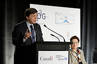 Montreal (QC) CANADA, May 22 2007-<br /> <br /> Paul L'Archevque, PDG, Genome Quebec at the<br /> Press conference of P3G (public Population Projet) in Genomics to foster harmonization genomic data collection and to share those datas.<br /> <br /> photo : (c) Pierre Roussel -  images Distribution