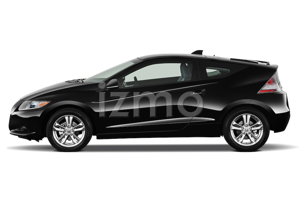 Driver side profile view of a 2011 Honda CR-Z EX Nav Hybrid Hatchback.