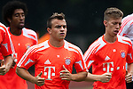 GUANGZHOU, GUANGDONG - JULY 26:  Xherdan Shaqiri of Bayern Munich during a training session ahead the friendly match against VfL Wolfsburg as part of the Audi Football Summit 2012 on July 26, 2012 at the Tianhe Sports Stadium in Guangzhou, China. Photo by Victor Fraile / The Power of Sport Images
