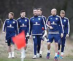 Barry Bannan, Andrew Robertson, Allan McGregor and Alan Hutton